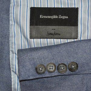 $2195 48L Ermenegildo Zegna Light Blue cash blazer